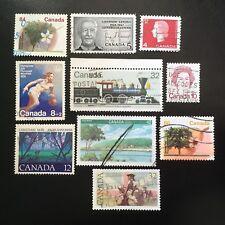 Lot de 10 timbres du Canada années Diverses - H42