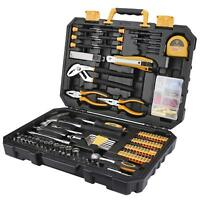 DEKO 196 Piece Tool Set General Household Hand Tool Kit with Rip Claw Hammer