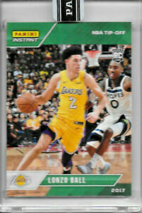 2017-18 PANINI INSTANT LONZO BALL ROOKIE GREEN #14 PARALLEL 1/10 NBA TIP-OFF