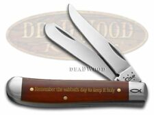 CASE XX 4th Commandment Chestnut Bone Mini Trapper 1/500 Stainless Pocket Knife