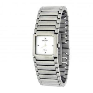 Reloj Mujer MONDIA AFFINITY 1-470-6 Pulsera Acero Blanco Clásico