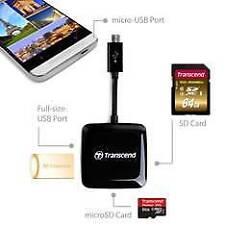 Transcend lector de tarjeta (sd-microsd) y USB 2.0 9621-x