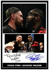 269. TYSON FURY & DEONTAY WILDER BOXING SIGNED  A4 PHOTOGRAPH REPRINT