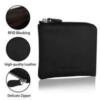 RFID Blocking MINI Wallet Purse Anti Theft Cards Holder Zipper Christmas Gift G5