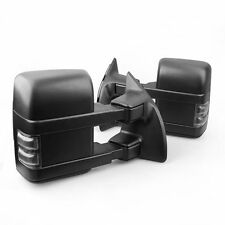 Smoke Power Heated Towing Mirrors w/ Signal Fit 08-16 Ford F250 F350 Super Duty