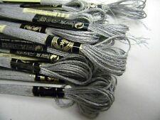 fil broderie point compté E415 gris argent métalisé dmc couture broder t14
