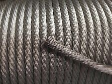 500' Foot, 4 AWG Gauge, Tinned Copper Cable, Bare Stranded Braid Ground Wire USA
