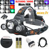 BORUiT Fishing Light 30000 LM 3xXM-L 3T6 LED Headlamp Headlight Head Torch USB