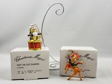 Disney Grolier Bambi Thumper Ornaments Wreath Drum