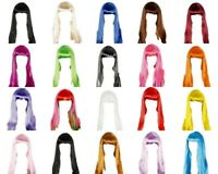 Womens' Long Straight Hair Wig Long Hair w Fringe Funk Disco Party Dress Up