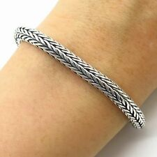 Suarti Bali 925 Sterling Silver Thick Wheat Link Bracelet 6.5""
