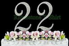 Large Rhinestone NUMBER (22) Cake Topper 22th Birthday Wedding Party Anniversary