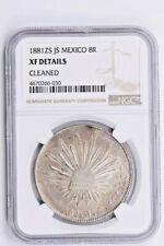 1881ZS JS Mexico 8 Reales NGC XF Details, CLEANED Witter Coin