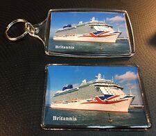 P&O Cruises BRITANNIA Photo Key Ring & Fridge Magnet Set Cruise Ship Ocean Liner