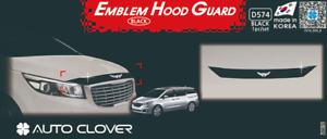 Bonnet Hood Guard Garnish Deflector Acrylic Black D574 for KIA Sedona 2015~2021
