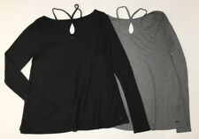 2PCS Hollister Women's Ribbed  Long Sleeve Swing Top Size:M