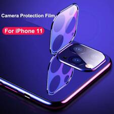 For iPhone 11 Pro Max Metal Tempered Glass Screens Rear Camera Len Protector