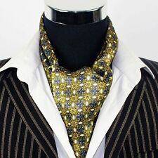 """Great Gift!  Mens 100% Silk Long Scarf/Cravat Double Layer Yellow 63""""X12"""" ●M002#"""