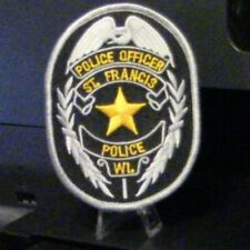 """Blue Line RETIRED POLICE OFFICER 4/"""" x 1.5/"""" iron on Rocker patch C11 5488"""