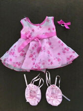 Build A Bear Summer Floral Sleeveless Dress Ballet Shoes Ribbon