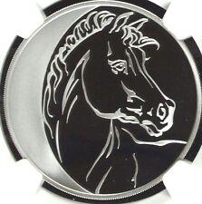 2014 M Russia 1oz Silver Coin 3 Roubles Horse Lunar Calendar NGC PF69