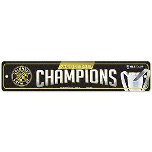 Columbus Crew SC WinCraft 2020 MLS Cup Champions 3.75'' x 19'' Street Sign