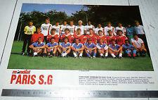 CLIPPING POSTER FOOTBALL 1988-1989 PARIS SAINT-GERMAIN PSG PARC-DES-PRINCES
