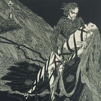 """Harry Clarke vintage illustration from """"Berenice"""" EDGAR ALLAN POE GOTHIC HORROR"""