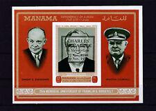 MANAMA -1971-CH DE GAULLE -1 bloc neuf NON dentelé surcharge en noir