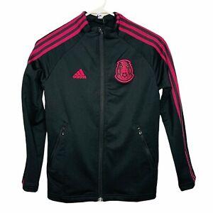 adidas Men's Mexico Anthem Futbol Soccer Track Jacket Black Size Small