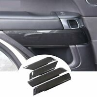 Door Decoration Cover Trim For Land Rover Range Rover Sport 2014-17 Carbon fiber