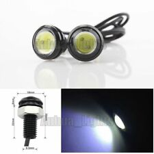 2 Pcs 2W Eagle Eye COB LED White Daytime Running DRL Tail/Head Light Backup 12V