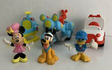 New listing 2011 & 2012 Mattel Mickey Minnie Mouse Toy Action Figures & Vehicles Lot Of 6