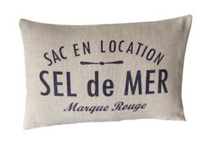 Sel De Mer ~ Coastal/Nautical lumbar cushion cover linen/cotton