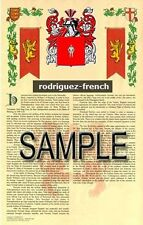 RODRIGUEZ Armorial Name History - Coat of Arms - Family Crest GIFT! 11x17