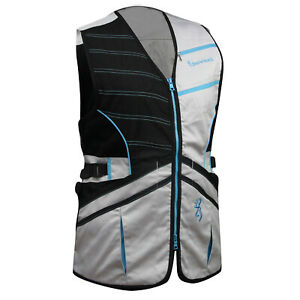 Browning WMNS Ace Shooting Vest (XS)- Black/Teal