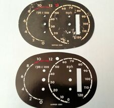 Honda CB77 305 Super Hawk Speedo Dial Gauge Clock Overlay Decal MPH Nippon Seiki