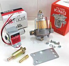 Facet 12V Electric Fuel Pump 40105 & Malpassi 67mm Filter King Regulator 8mm kit