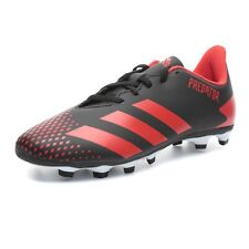 Adidas Predator 20.4 S FxG J Kid's Soccer Cleats-Black Red Youth Sz 5 Free Ship