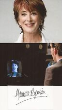 DOCTOR WHO &CORONATION STREET: MAUREEN LIPMAN SIGNED 4x2 CRD+UNSIGNED PHOTOS+COA