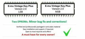 E-MU Vintage Keys Plus Version 2.0 Firmware Update Upgrade OS For Emu