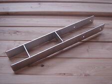 H-Anker Edelstahl, Pfostenträger VA 600 x 60 x 5 mm, 9 x 9 Zaunpfosten Anker NEU