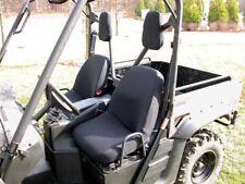 New Utv Yamaha Rhino Fabric Seat Covers Black Pair  X 63240.01