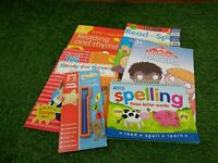 Pre school learning Books X6 Maths And English