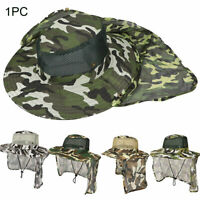 Camouflage Pattern Cool Fishing Hat Fashion Polyester Net Cap Portable Outdoor