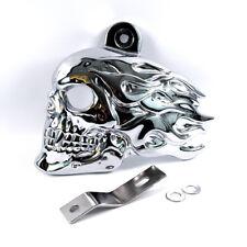 Horncover Motiv Hair Skull chrome Hupenabdeckung für Harley Davidson