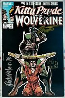 SIGNED! KITTY PRYDE & WOLVERINE #4 STAN LEE Len Wein AL MILGROM Jim Shooter XMEN