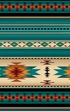 Southwest Turquoise, Blanket Stripe, Navaho Designs, Tucson REMNANT (10 in)