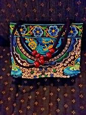 Fashion multi color embroidered Lady Handbag hand made excellent