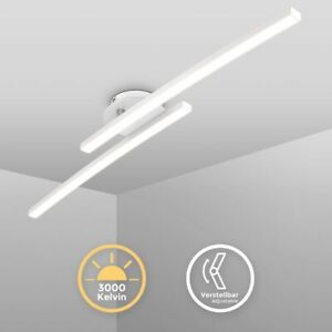 LED Deckenleuchte weiß schwenkbar Deckenlampe 12W warmweiß modern Flur Küche